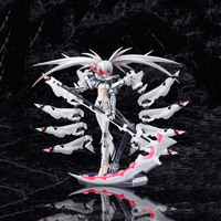 15cm Anime Figma White Rockshooter Black Rockshooter Movable PVC Action Figure Collectible Model Toys Children's gifts