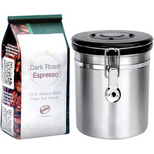 цена на VOGVIGO Stainless Steel Airtight Sealed Canister Coffee Flour Sugar Container Holder Can Storage Bottles Jars For Coffee Beans