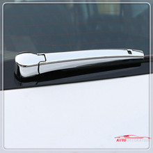 For Volkswagen T-Roc 2017 2018 Car styling Exterior ABS Chrome Rear Rain Wiper Cover Trim  2*