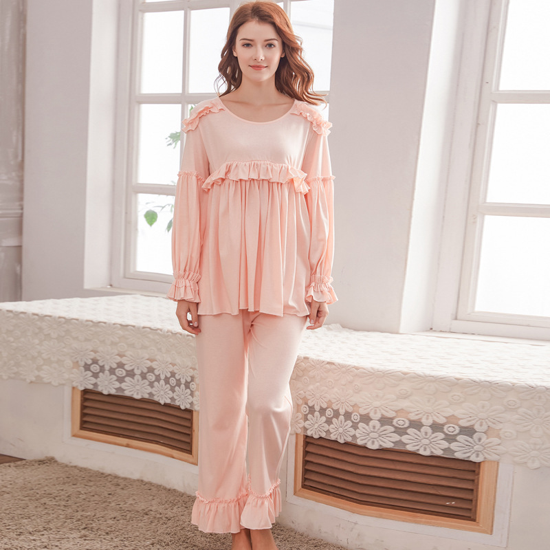 Hot maternity pajamas set comfortable floral summer thin pregnant women pajamas pregnancy clothes sleepwear nursing pajamas suit cotton materinty nursing pajamas long sleeve pijamalar hamile plaid pajamas set maternity sleepwear for pregnant women 50m084
