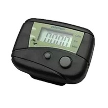 1pc New and Wholesale Digital LCD Pedometer Odometer Walking Running Pedometer Calorie Counter Black