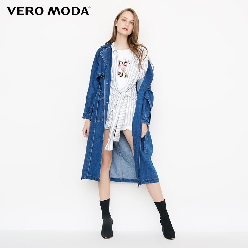 Vero Moda Women's Medium Length Oversized Denim Jacket | 318354501