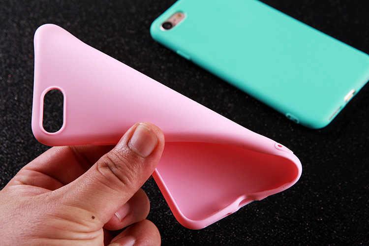 Chất Liệu TPU Silicone Mờ Dành Cho iPhone 11 Pro Max Ốp Lưng Mềm Mại Trong Cho iPhone 11X6 6S 7 7 Plus 8 8 Plus Bảo Vệ Trường Hợp