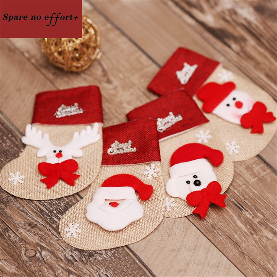 4pcs Cheap Christmas Stocking Personalized Gifts Socks Filler ...