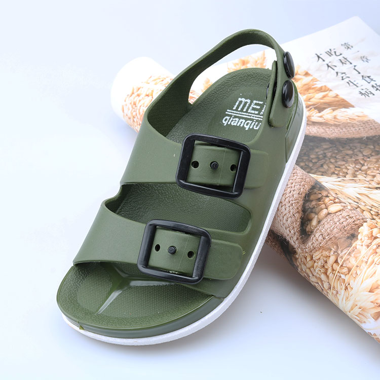 2019 New Summer Boys Sandals For Children Beach Shoes Kids Sports Soft Anti-slip Casual Toddler Baby PVC Leather Flat Sandals