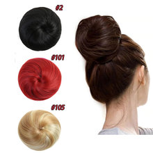 HiDoLA  Newest Natrual Bun Wigs Chignon Hair Scrunchie Extension HairpieceBlonde Synthetic headwear