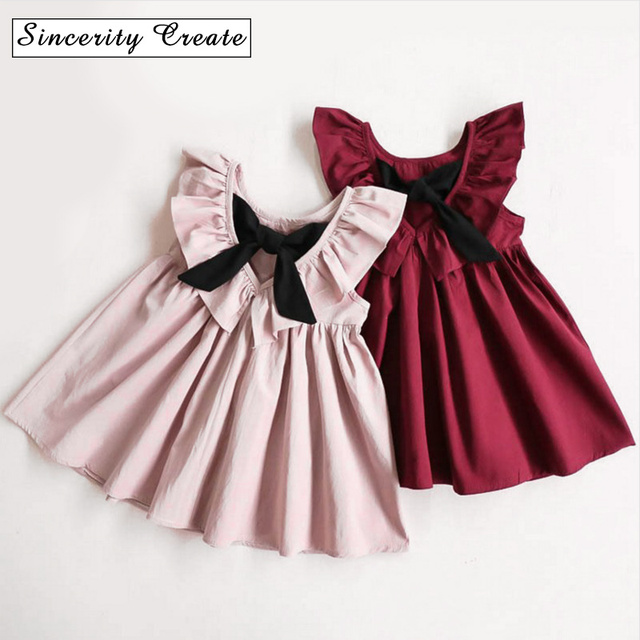 6670b1686165 Baby Girls Infant Dress Summer Kids Party Birthday Outfits around 2 ...
