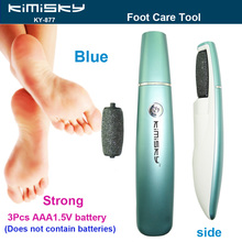 2016 New Blue LED pedicure electric tools Foot Care Exfoliating Foot Care Tool 1pcs roller pedicure heads For scholls KIMISKY