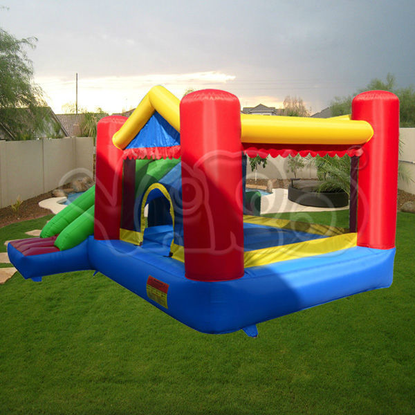 Bounce house inflatable bouncer jumper with happy hooper