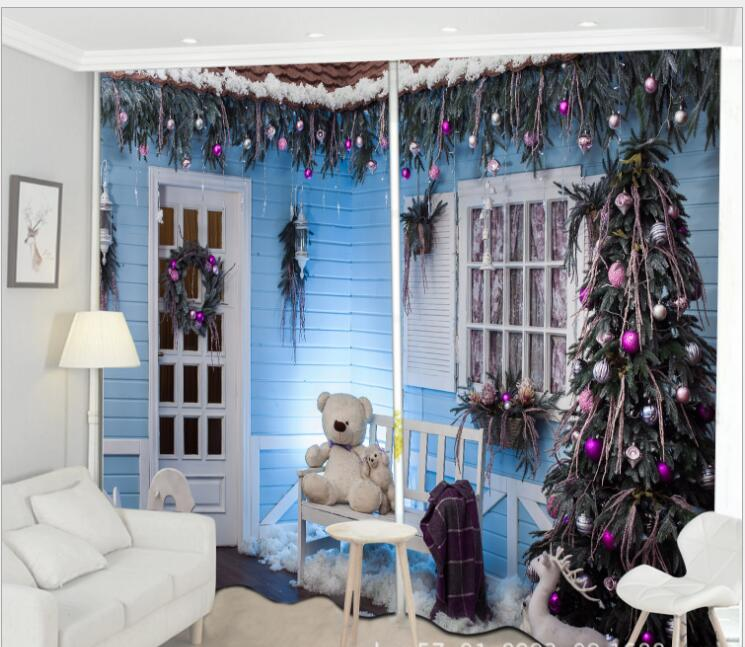 Christmas Curtain Luxury Blackout 3d Window Curtain Living Room Girl Bedroom Party Decorate Drapes Rideaux Cortina Pillowcase Curtains Aliexpress