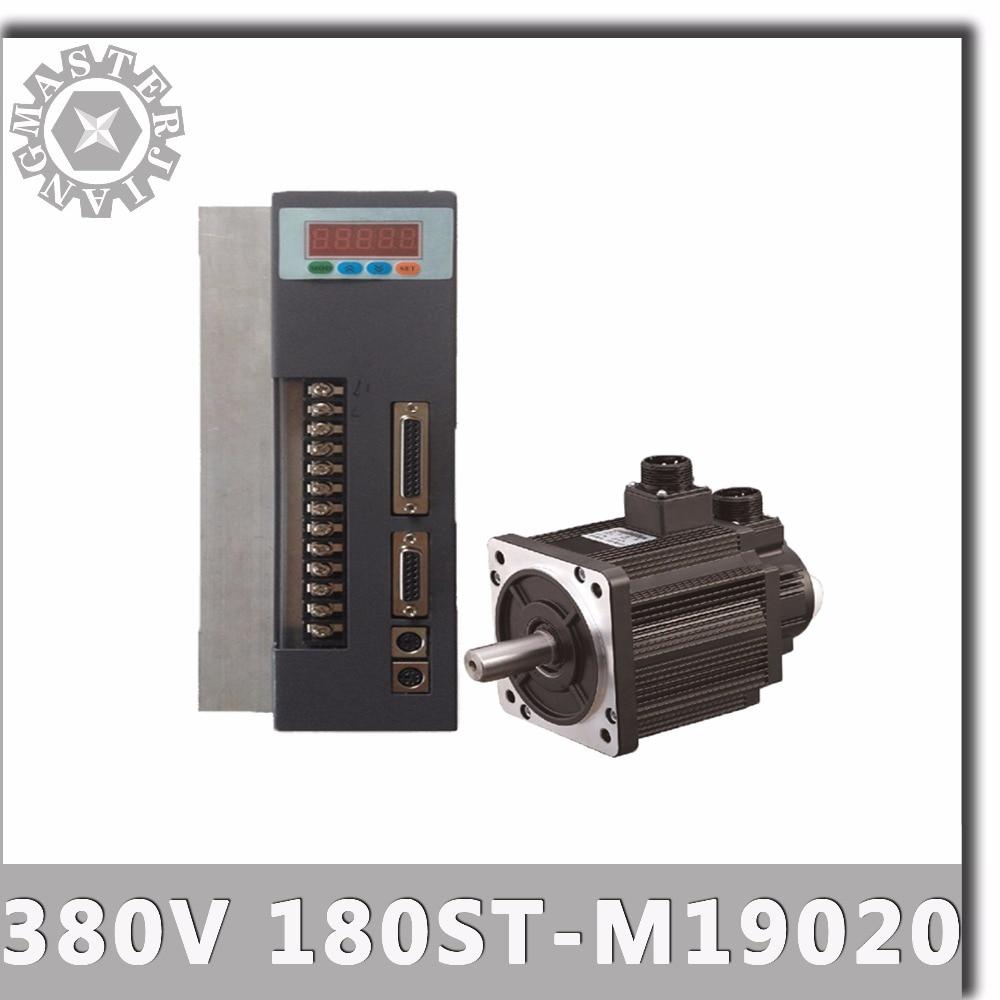 380V 4KW 180ST M19020 AC Servo motor 2000RPM 19N M 4000W Three Phase ac drive permanent