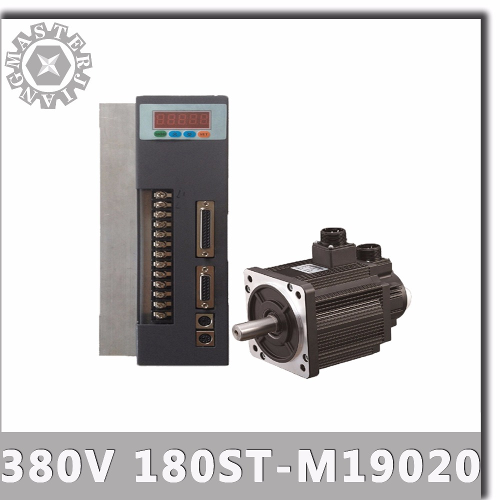 380V 4KW 180ST M19020 AC Servo motor 2000RPM 19N.M. 4000W Three Phase ac drive permanent magnet Matched Driver AASD 40A-in AC Motor from Home Improvement    1