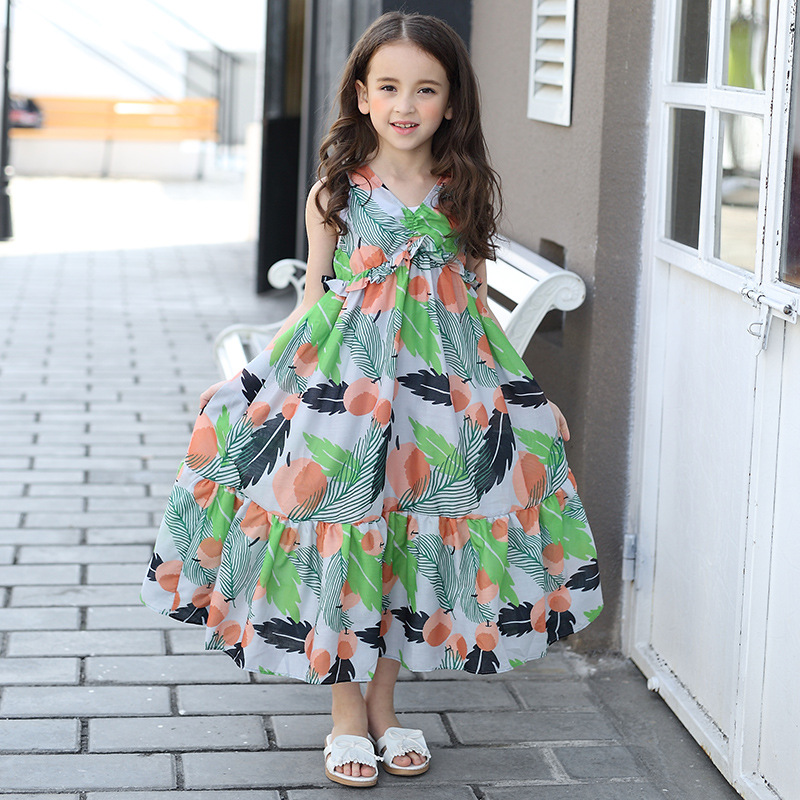 2017 summer mother daughter dresses long maxi dress family matching clothes beach family look mother and daughter clothes