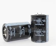 Бесплатная доставка 6 шт. электролитический конденсатор 10000UF100V 35*50 электролитические конденсаторы