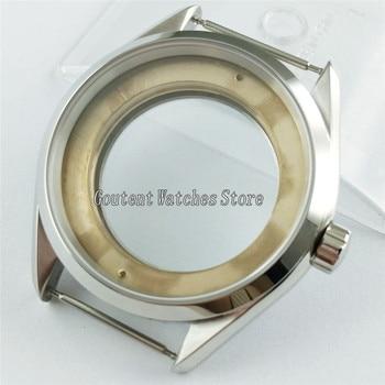Silver 41mm Watch Case Fit ETA 2836,Mingzhu/DG 2813/3804,Miyota 8205/8215 P872