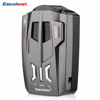 Excelvan V9 Car Radar Detector 360 Degrees 16 Band LED Display Russia/English Voice Alert Warning Anti Radar Detector