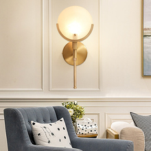 Nordic Villa Golden Copper Wall Lamp Art Spain Marble Led Wall Sconce Modern Bathroom Living Hotel