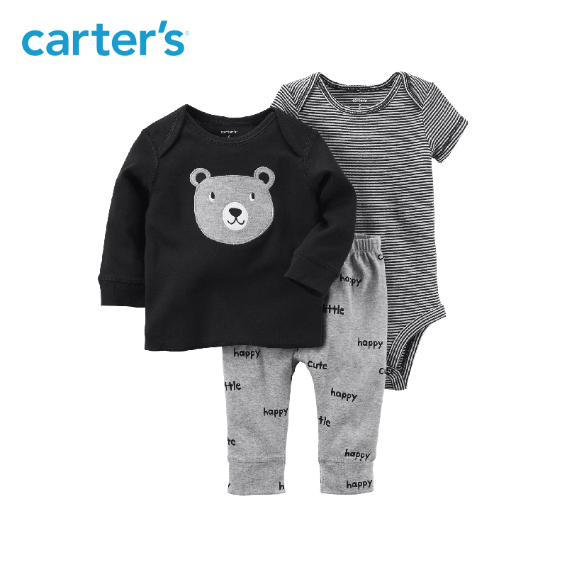 Carter's 3-Piece baby children kids clothing boy spring&summer Babysoft Bodysuit Pant Set 126H170 carter s 3pcs baby children kids 3 piece babysoft footed pant set 126g315 sold by carter s china official store