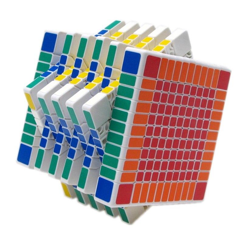 SHENGSHOU 11x11x11 CUBE magique Cube noir blanc couleurs Puzzle professionnel vitesse Cube Magico jouet éducatif
