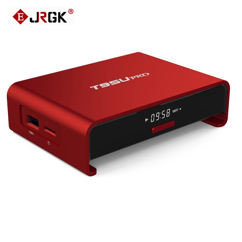 JRGK  T95U pro S912 Smart TV Box Android 6.0 2GB 16GB Octa Core Kodi TV box 2.4/5GHz Wifi IPTV Europe Media Player PK zidoo smart android tv box zidoo x6 pro octa core hd 4k 3d 2gb 16gb h8 m8s network media player hdmi 2 0 bluetooth 4 0 dual wifi kodi