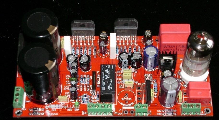 LM3886 + 6 N11 Нужно усилитель доска (С спикер схема защиты UPC1237)