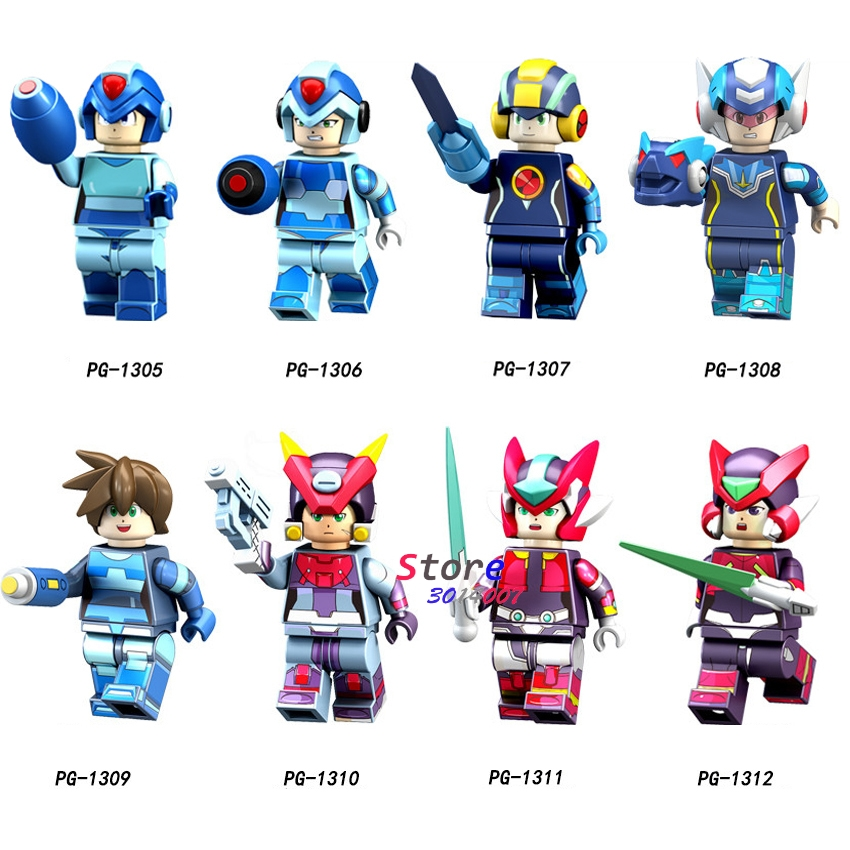 Helpful 50pcs Cartoon Movie Tv Super Heroes Mega Man Yuanzu Rockman Ax Light Hot Bucket Meteor Figures Building Block For Children Toy An Indispensable Sovereign Remedy For Home Model Building