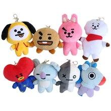 1pc 15cm Bangtan Boys BTS bt21 Vapp soft Key Chain Plush Toy kawaii Doll Kpop Home TATA VAN COOKY CHIMMY SHOOKY KOYA RJ MANG