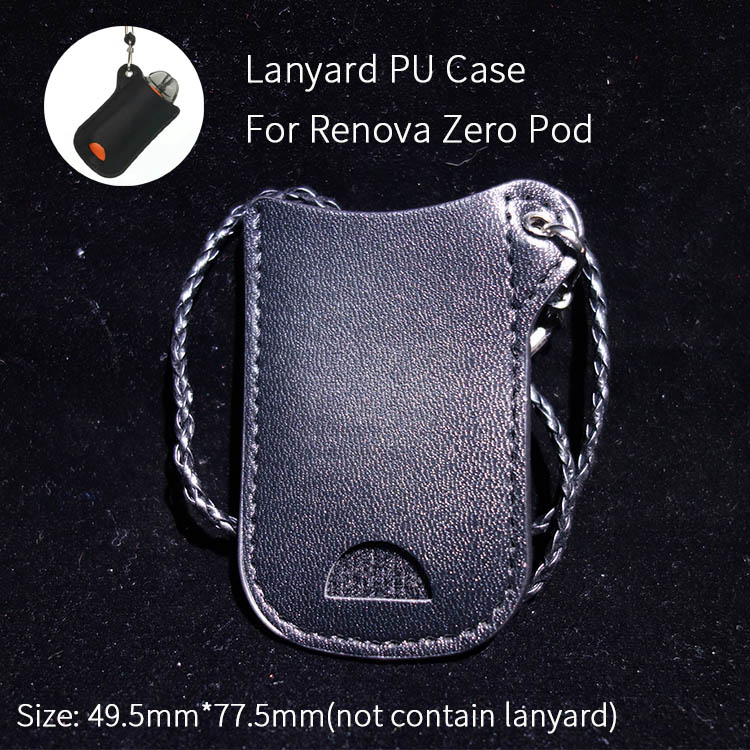 1pc PU Leather Neck Portable Carrying Lanyard Case for Renova Zero Pod bag Pouch Pocket ECIG Vape accessories Зарядное устройство