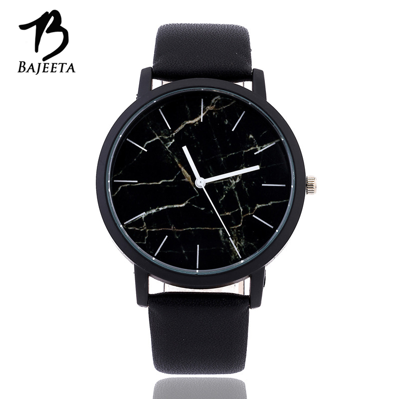 BAJEETA Marble Style Leather Quartz Women Watch Top Brand Men Watches Fashion Casual Sport Wrist Watch Hot Sale Lovers Relojes портмоне мужское кожаное naijie nj605