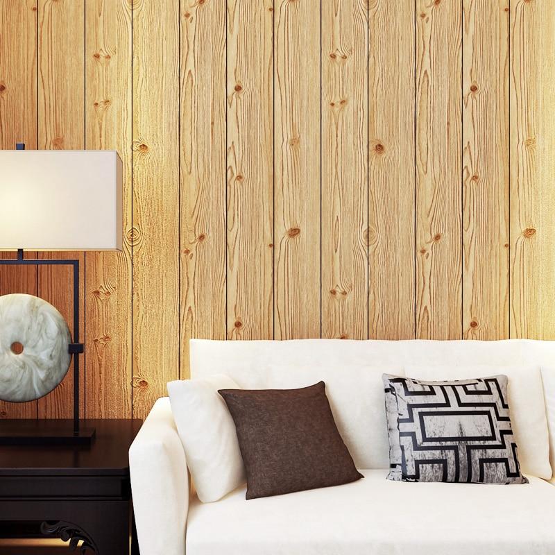 Wood Panels Wood Grain Wallpaper For Walls Roll Hotel Bedroom Living ...