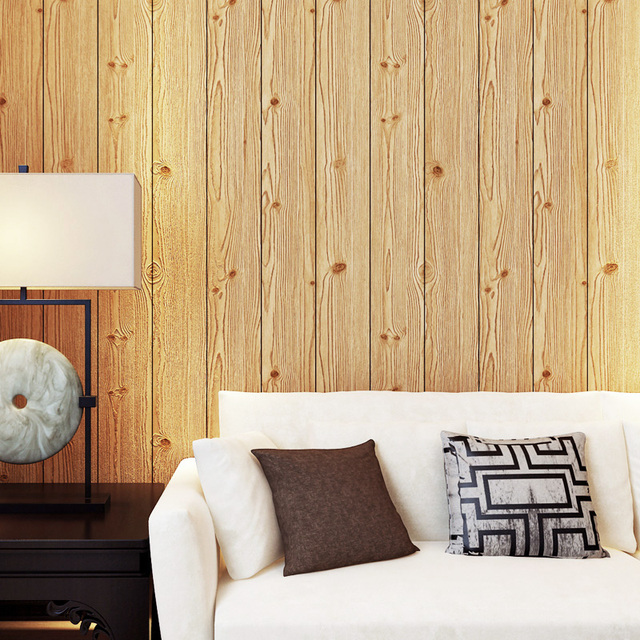 Wood Panels Grain Wallpaper For Walls Roll Hotel Bedroom Living Room Kitchen Home Decoration Wallpapers