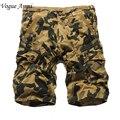 Homens verão Bermudas Casuais Homens moda Camo Shorts De Carga Militar Camuflagem Calções Homens Shorts Tamanho Grande 36 38 40 42