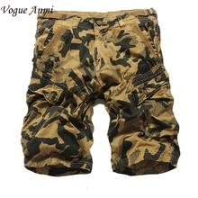 Summer Men Casual Shorts Men fashion Camo Cargo Shorts Military Camouflage Shorts Men Shorts Big Size 36 38 40 42
