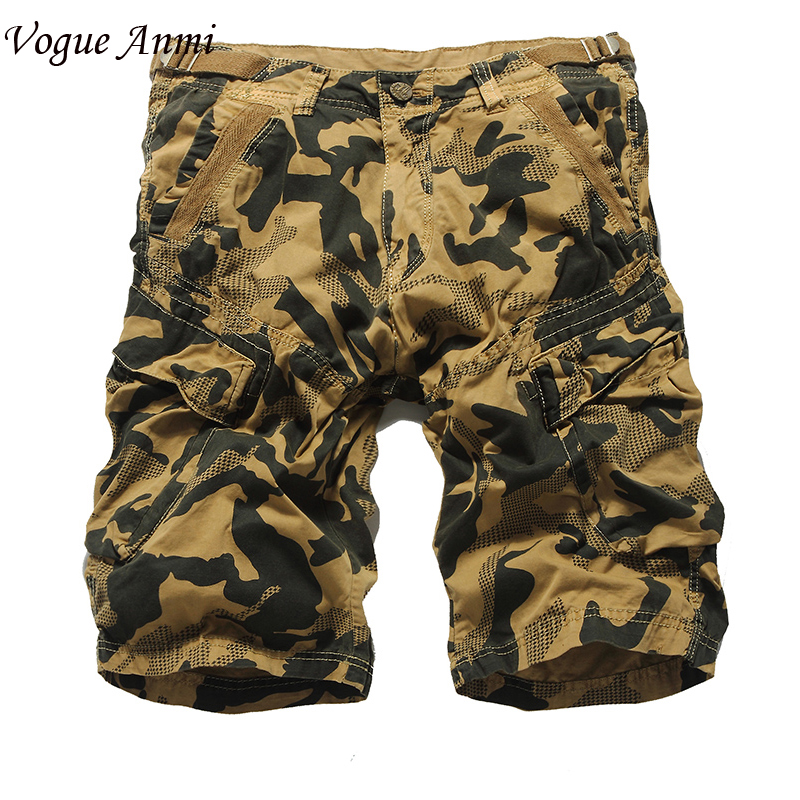 Vogue Anmi.Summer Men Casual Shorts fashion Camo Cargo Military Camouflage Big Size 36 38 40 42 - Anmi Mens Garments' Store store