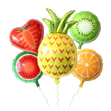 Fruit Food Shape Foil Balloons Birthday Party Baby Shower Decoration