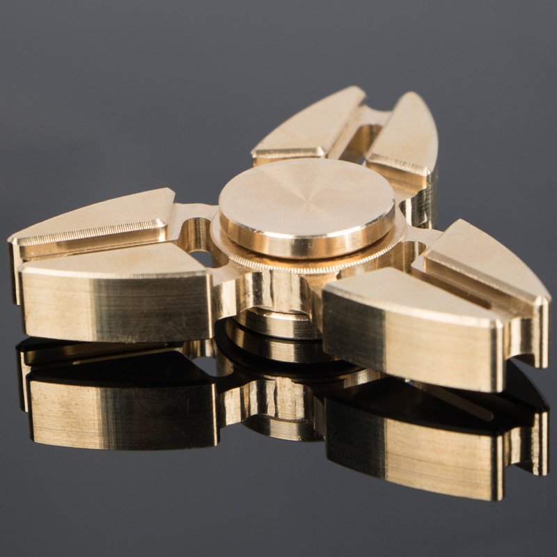 3 Angle EDC Tri Spinner Fidget Toys Pattern Hand Spinner Brass Fidget Spinner And Adults With