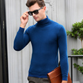 2016 New Arrival Winter & Autumn Mens Puro 100% Lã Pullover Camisola de Malha de Gola Alta Suéter de Cashmere