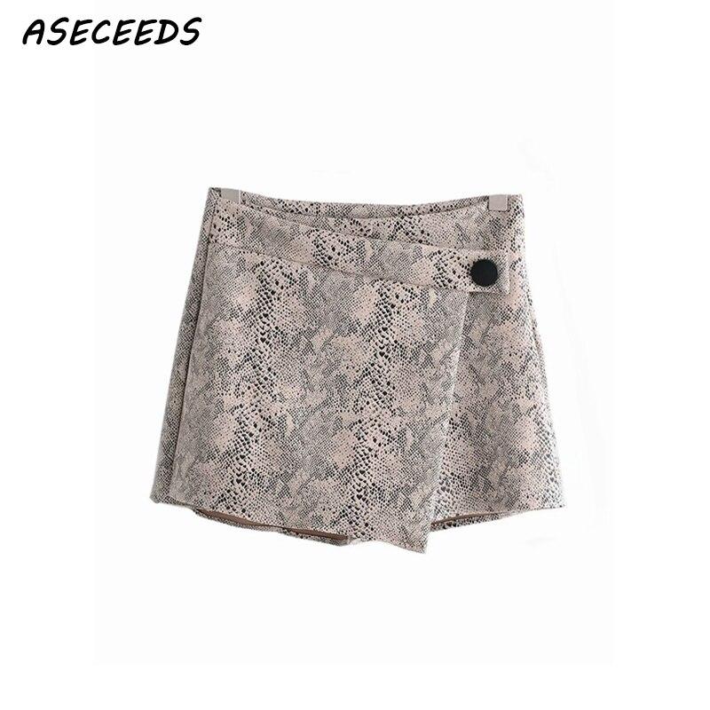 Летние шорты с высокой талией женские леопардовые змеиные принты корейские короткие Шорты повседневные женские сексуальные юбки шорты