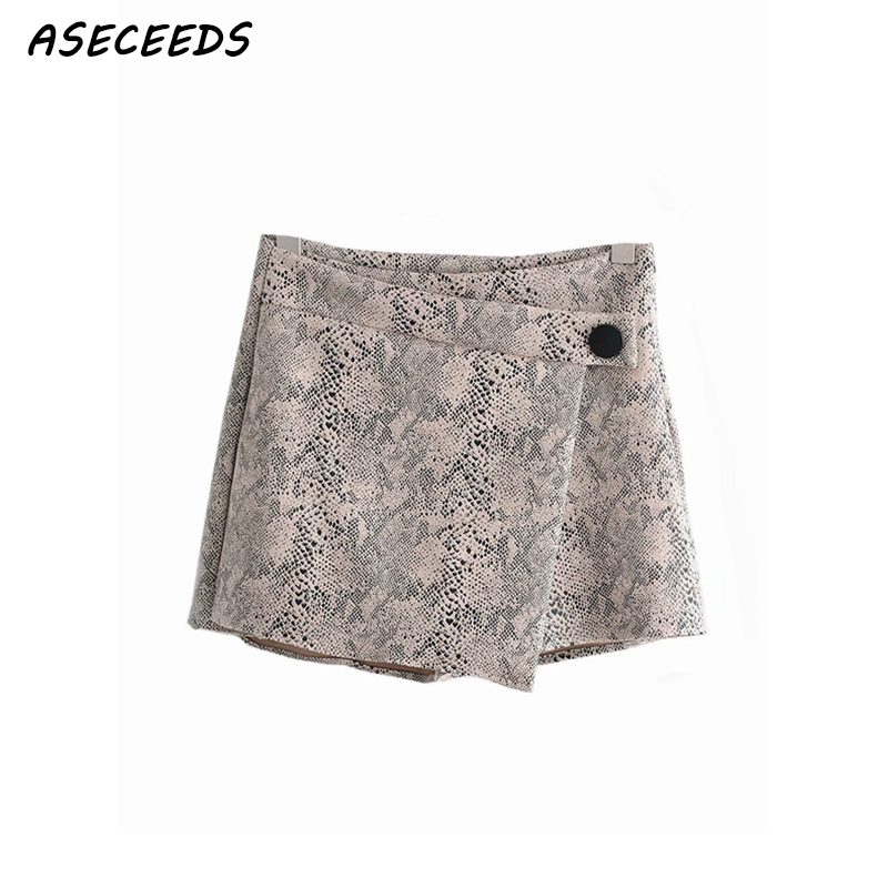 Summer High Waist Shorts Women Leopard Snake Print Korean Short Shorts Casual Ladies Sexy Skirt Shorts