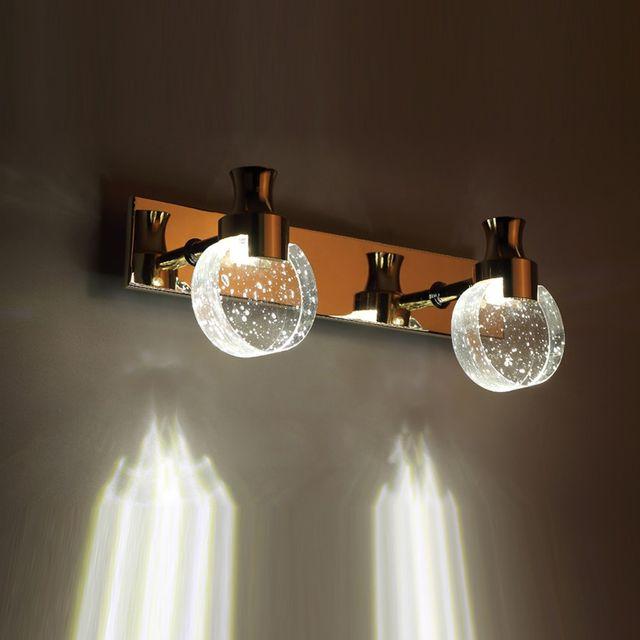 Modern LED Bubble Crystal Bathroom Wall Lamp Mirror Front Wall Light  Washroom Perfume Bottle Crystal Lampshade Wall Sconces