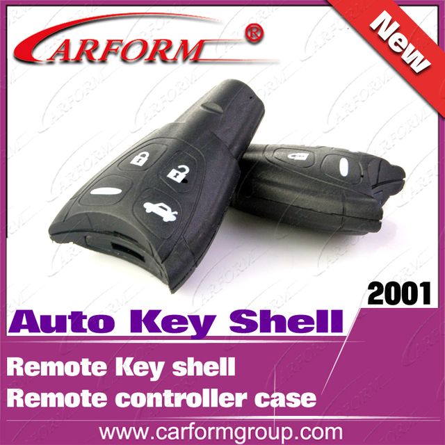 Hot sell remote controller case Original Auto Key Shell  Free shipping 4 Button Remote Key shell for Saab