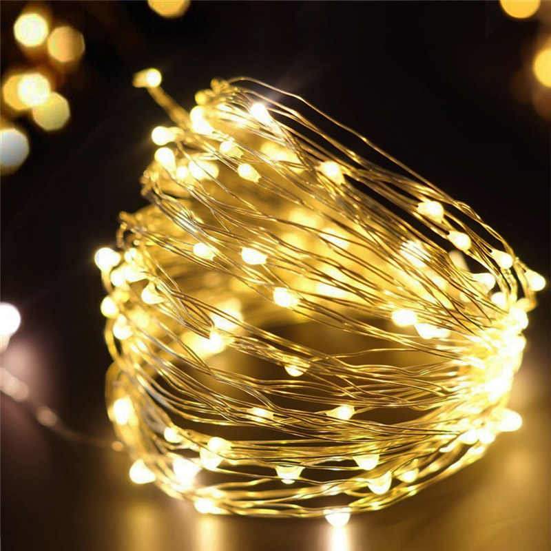Timer & Remote Control Battery Operated LED Fairy String Lights 10M 100LED 33FT Christmas Lights for Home Indoor Outdoor  Decor