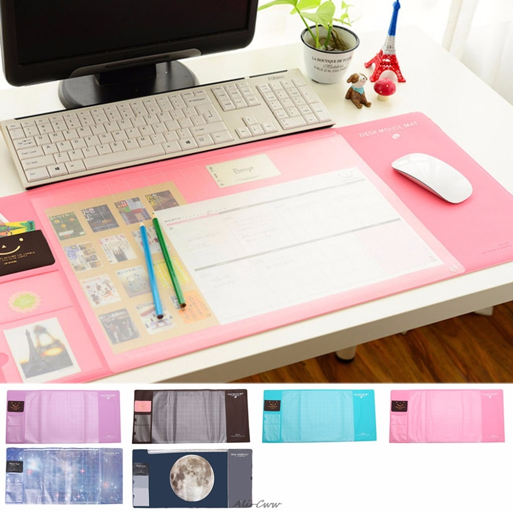 70x33cm Multi-function PVC Waterproof Anti-Slip Mouse Pad Large Size Desk Computer Laptop Mice Pad Protector Mat 6-Color