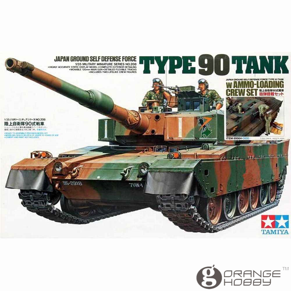 OHS Tamiya 89564 1/35 JGSDF Type 90 Tank w/Ammo Loading Crew Set Military Assembly AFV Model Building Kits ohs tamiya 60102 1 35 tyrannosaurus diorama set assembly scale dinosaur model building kits