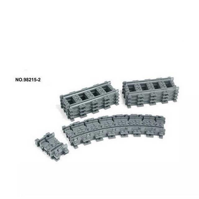 Ville Flexible Compatible avec lego Trains Rails Voie Ferrée modèle ensembles Fourchue Droit Courbé Blocs De Construction