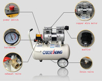 Noisy less light tool,Portable air compressor,0.7MPa pressure,8L air pool cylinder,economic speciality piston filling machine