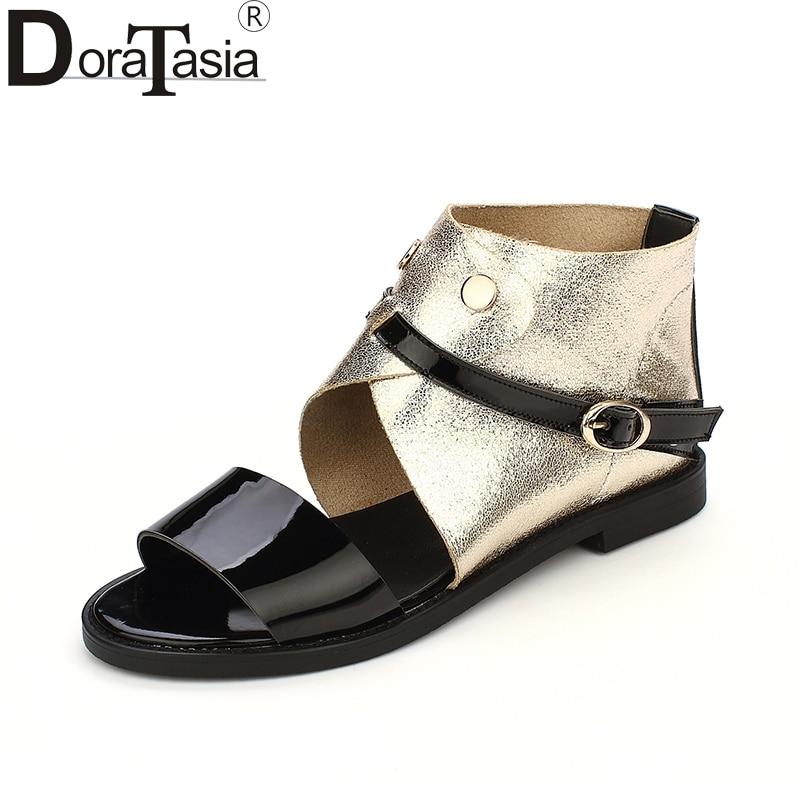 DoraTasia 2018 big size 32-43 wholesale dropship summer shoes sandal leisure flat with comfortable women shoes woman sandals