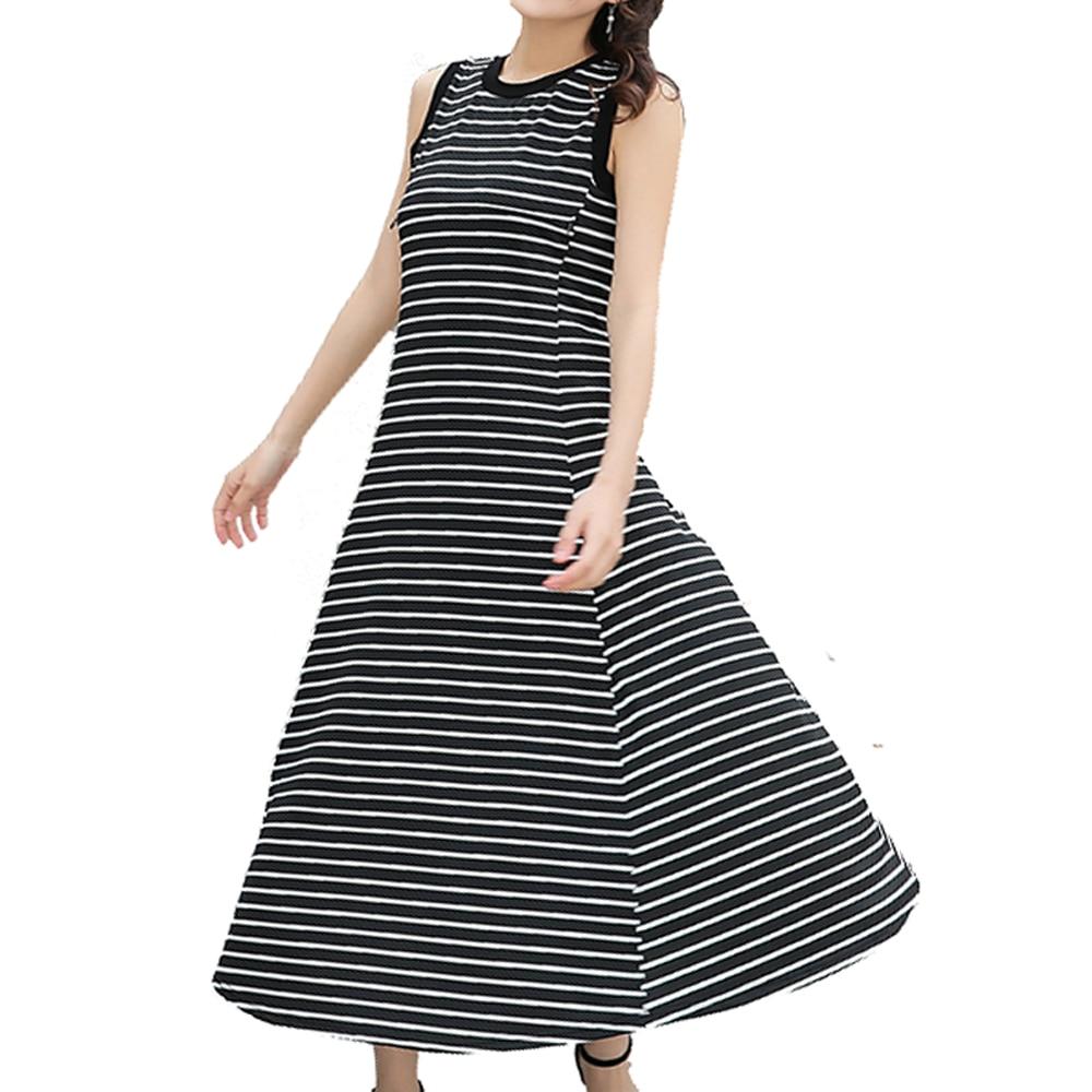2018 Summer New Feeding Nursing Dress Black White Striped Woman Long Dresses For Pregnant Women Maternity Clothes Pregnancy