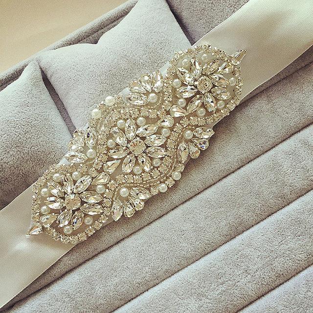 Luxury Crystals Bridal Sashes Real Photo Crystals Wedding Belt Bridal Accessories Rhinestones Fastness Crystal Wedding Belts