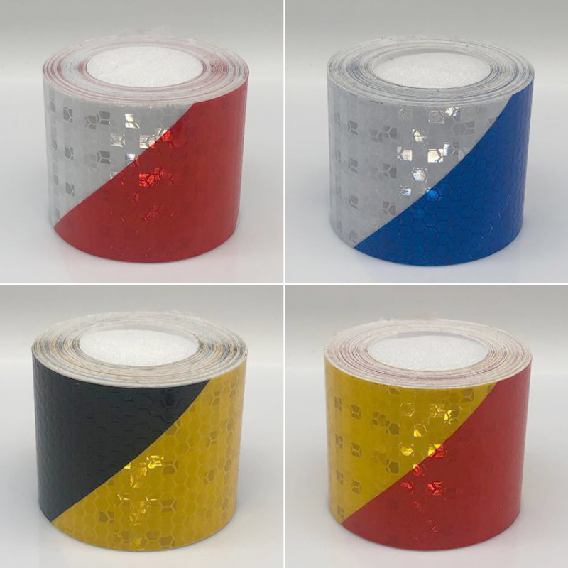 5cmx1m Reflective Bicycle Stickers Adhesive Tape For Bike Safety White Red Yellow Reflective Bike Stickers